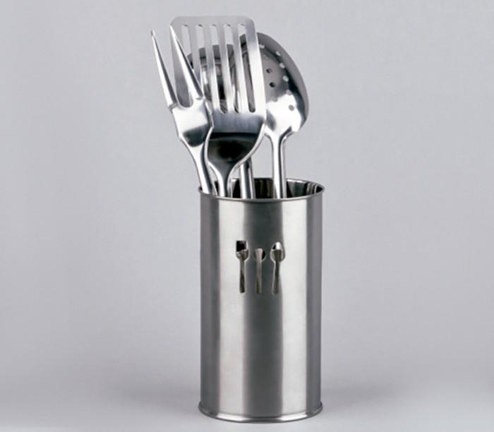 Porta utensilios de cocina inox lifestyle amaia gomez ainz for Utensilios alta cocina
