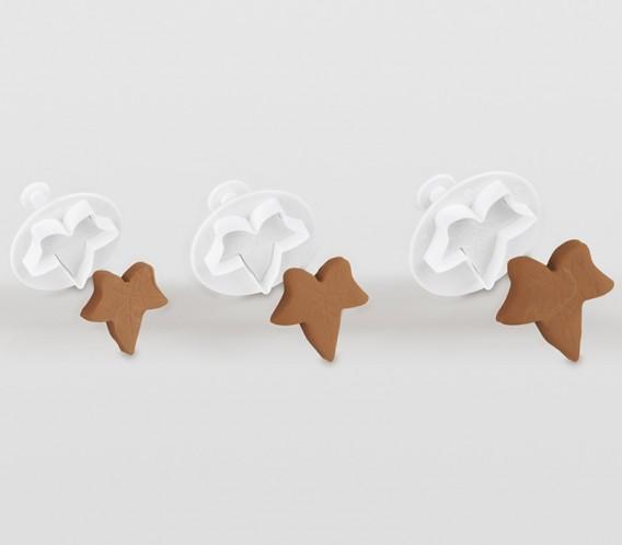 3 moldes cortapastas con empujador