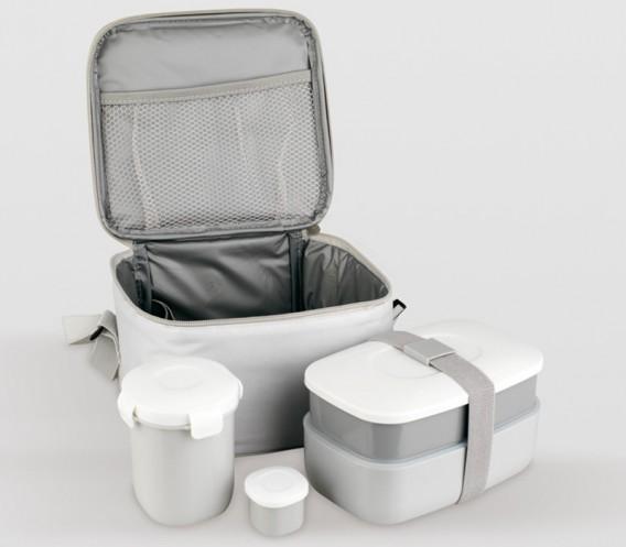 Bolsa porta alimentos 4 recipientes cubiertos - Bolsa porta alimentos ...