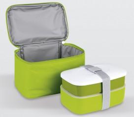 bolsa porta alimentos + 2 recipientes + cubiertos Lifestyle