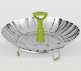Cestillo cocedor verduras al vapor plegable