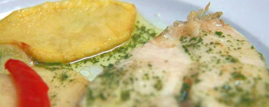 Merluza en salsa verde en papillote